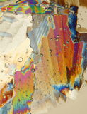 Ice under polarized light Stock Images