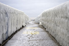 Ice Vanishing Point Royalty Free Stock Photos