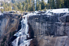 Ice on Vernal Falls. Winter Vernal Falls, Yosemite National Park Stock Photos