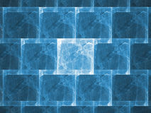 Ice Wall. Fractal rendering resembling an ice or block wall Royalty Free Stock Photography