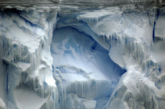 Ice wall. Majestic Antarctic ice wall with pinnacles Stock Image