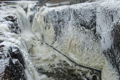 Ice walls-Frozen `Great Falls of Paterson` Stock Photography