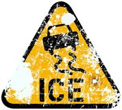 Ice warning Royalty Free Stock Photography