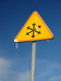 Ice warning sign Stock Photography
