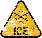 Ice warning Stock Photography
