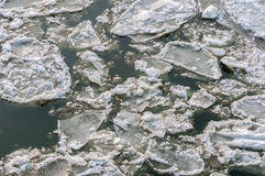 Ice on water Stock Photos