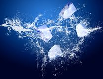 Ice in water Royalty Free Stock Image