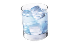 Ice water in a beaker Royalty Free Stock Photo