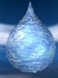 Ice water drop winter blue ligt christmas burble Stock Photography