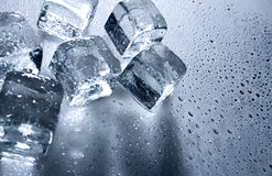 Ice with water droplets royalty free stock photos