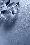 Ice with water droplets Royalty Free Stock Image