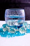 Ice water with drops Stock Photos