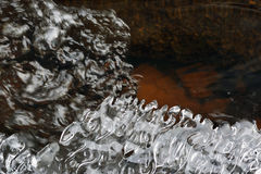 Ice and water flow Stock Photography