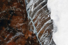 Ice and water flow Stock Images