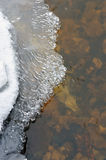 Ice and water flow Stock Photo