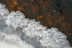 Ice and water flow Royalty Free Stock Photography