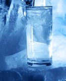 Ice and water glass Royalty Free Stock Images