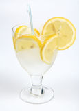 Ice water with lemon Royalty Free Stock Photos