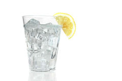 Ice Water With Lemon Stock Photo