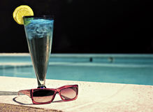 Ice Water by Pool Royalty Free Stock Photos