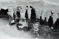 The ice - water in the solid state Royalty Free Stock Images