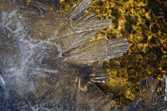 Ice and Water in Spring Stock Photos