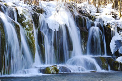 Ice waterfall Stock Photography
