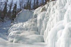 Ice waterfall Stock Image