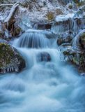 Ice and Waterfall, Washington State Royalty Free Stock Images