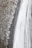 Ice waterfall in winter season Fukuroda Falls Stock Image