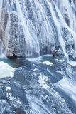 Ice waterfall in winter season Fukuroda Falls Royalty Free Stock Images