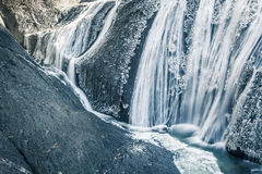 Ice waterfall in winter season Fukuroda Falls. Ibaraki prefecture , Japan Royalty Free Stock Photography