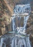 Ice waterfall in winter season. Fukuroda Falls , Ibaraki prefecture , Japan Stock Photography