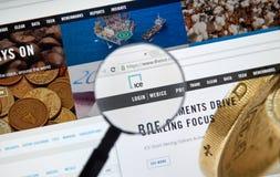 ICE web page Stock Photos