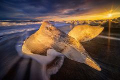 Ice whale iceberg Stock Image