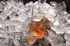 Ice and whiskey Royalty Free Stock Image