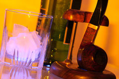 Ice whisky and pipe Stock Image
