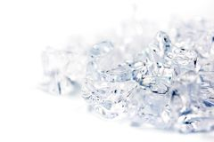 Ice on white background,food and drink concept. Ice on white background,food and drink concept Royalty Free Stock Photography
