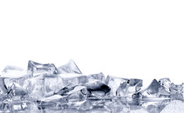 Ice  on  white background Royalty Free Stock Images