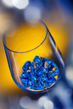 Ice in wineglass Royalty Free Stock Photo