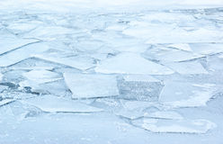 Ice in winter frozen river Royalty Free Stock Photo