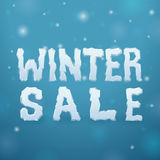 Ice Winter Sale Stock Photo