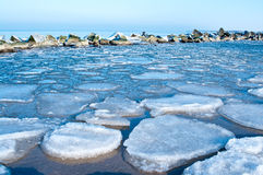 Ice winter sea Stock Images