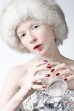 Ice woman Royalty Free Stock Photo