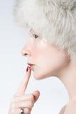 Ice woman Stock Photography