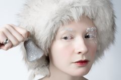 Ice woman stock photos