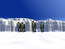 Ice world 10. A ice landscape with some penguins on it Royalty Free Stock Photography