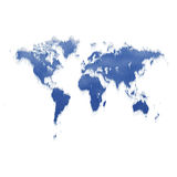 Ice world map melting Stock Photo