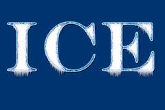 Ice writing Stock Image