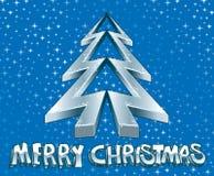 Ice Xmas tree. Disco Christmas message vector illustration